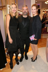 Nina Ruge, Designer Adrian Runhof and Lisa Martinek (Photo by Gisela Schober/Getty Images for Talbot Runhof)